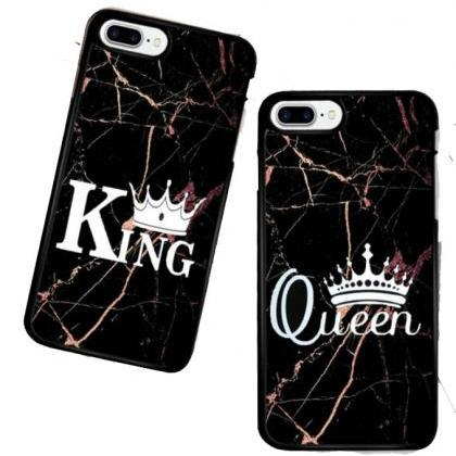 2pcs/set Marble Pattern King Queen ..