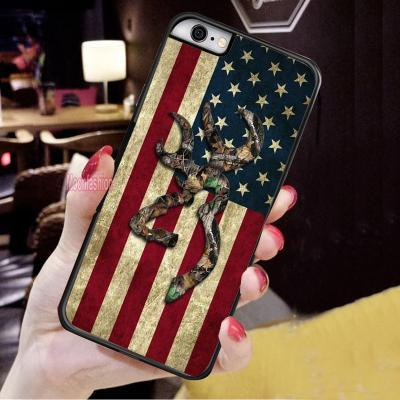 Browning Camo Retro American Flag Pattern Phone Case Cover-iPhone X 8 7 6s Plus 5 5s 4 4s and Samsung Galaxy S3 S4 S5 S6 S7 Edge S8 Plus Note 5 Note 8 Back Protective Skin