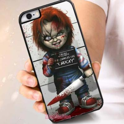 Chucky Cartoon Design Cell Phone Case-iPhone X 8 7 6s Plus 5 5s 4 4s and Samsung Galaxy S3 S4 S5 S6 S7 Edge S8 Plus Note 5 Note 8 Back Protective Skin