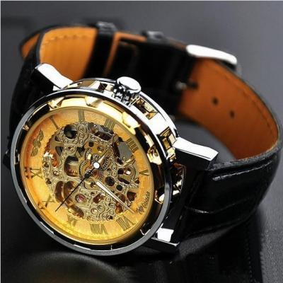 Mens Watch Steampunk Mechanical Wrist Watch