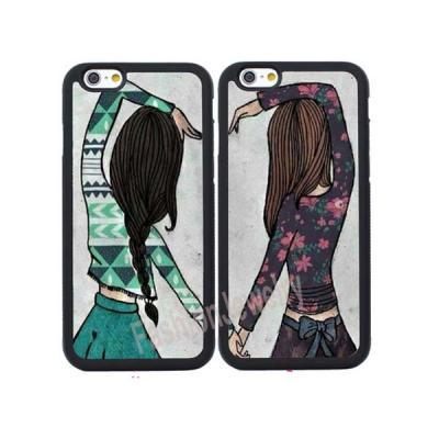 2X BFF Girls Couple Cases for iPhone 4/4S/5/5S/SE/5C/6/6S Plus,iPhone 7/7 Plus,Samsung Galaxy S3/S4/S5/S6/S7 Edge,Note2/3/4/5/7 Back Case Shell