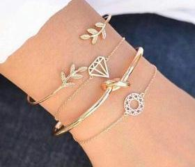 4pcs/set Leaves Knot..