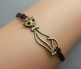 2pcs Cat Lady Bracel..