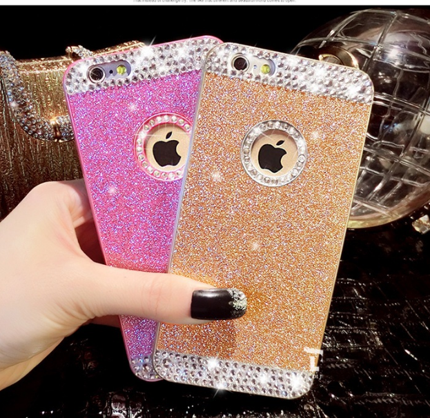 Luxury Bling Diamond Sparkle Glitter Crystal Hard Back Case Cover for iPhone 4 4S 5 5S 6 6S 7 7 Plus 8 8 Plus