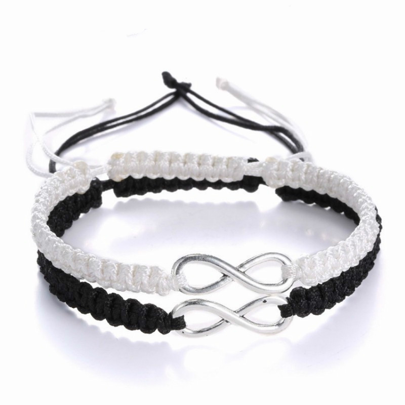 2pcs Infinity Love Couples Bracelet Set Lovers Bracelet Set Infinity Jewelry gift