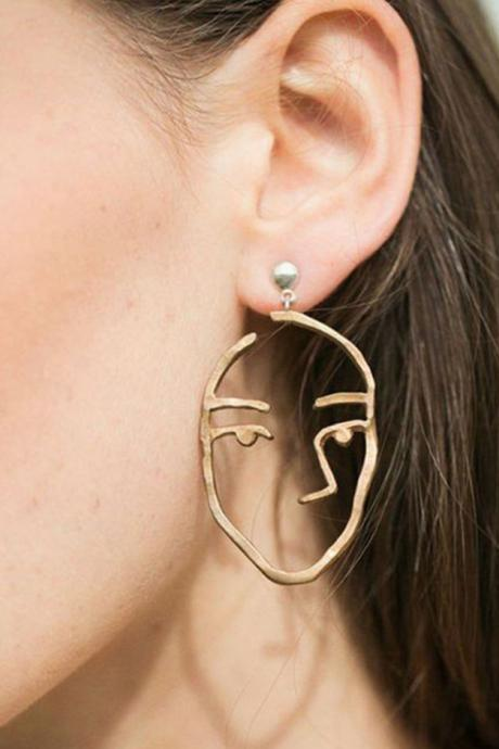 Cute Fashion Face Statement Dangle Earring