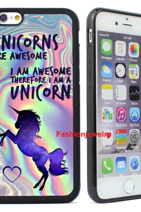 Fashion Unicorn Design Mobile Phone Case Back Protective Cover for iPhone X 8 7 6 6S Plus 5 5S 4 4S & Samsung Galaxy S5 S6 S7 S8 S9 Plus & Note5 Note 8