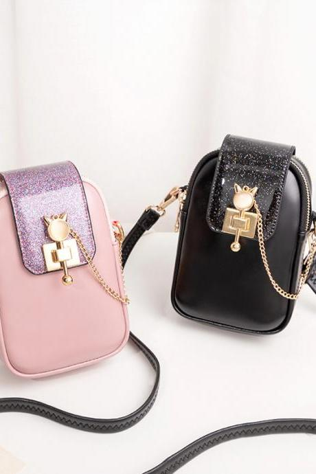 New Fashion Women's Mobile Phone Shoulder Bag Pouch Case Handbag Purse Wallet