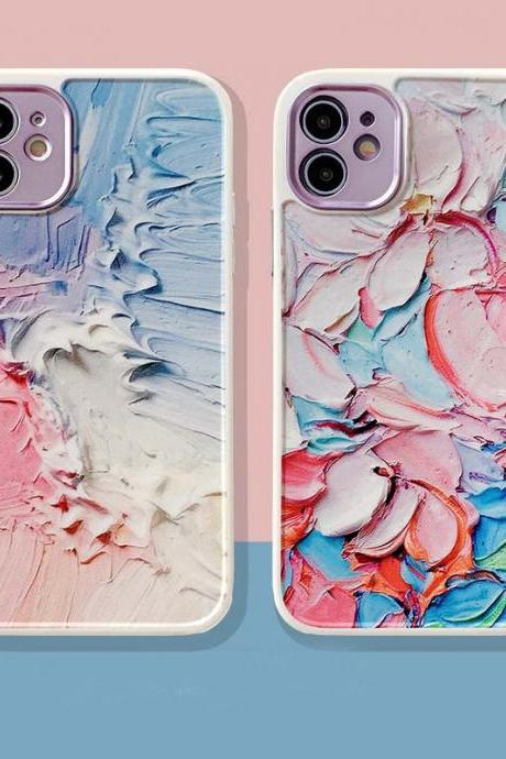 Painting Phone Case For iPhone 12 11 Pro Max X XR XS Max 12 Mini 7 8 Plus SE 2020