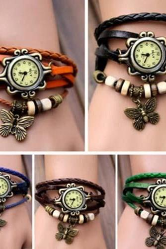 Fashion Butterfly Bracelet Watch Quartz Movement Wrist Watch for Girl Women