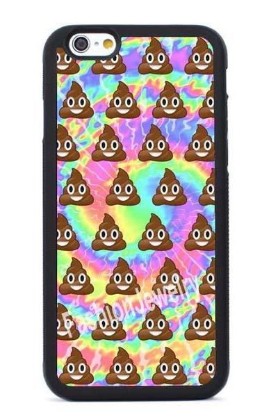 Funny Tie Dye Emoji Poop- iPhone 7 case,iPhone 7 Plus case,iPhone 6/6s Plus case,iPhone 5 5s se case,iPhone 5c case,iPhone 4 4s case Samsung Galaxy Case Cover