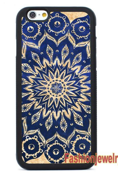 Blue Mandala Design- iPhone 7 case,iPhone 7 Plus case,iPhone 6/6s Plus case,iPhone 5 5s se case,iPhone 5c case,iPhone 4 4s case Samsung Galaxy Case Cover