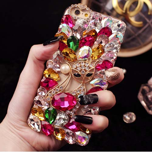 Crystal Diamond Fox Soft Case Cover for iPhone 5 5s 6 6s 7 8 Plus X XS