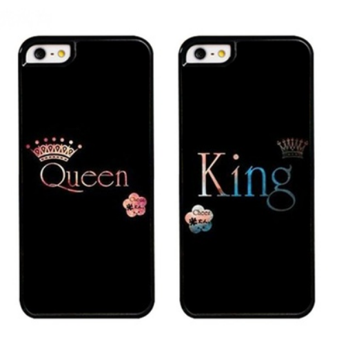 2pcs/set King Queen Couple Phone Cases for iPhone XS MAX XR XS X 8 7 6 6s Plus  Lovers phone case for Samsung galaxy S7 S7edge s8 S8plus s9 s9plus s10 Note 8  Note9