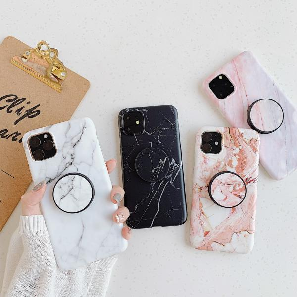 Marble Pattern With Stand Holder Case Cover for iPhone 11 Pro Max/ XS MAX XR XS X 8 7 6 6S Plus