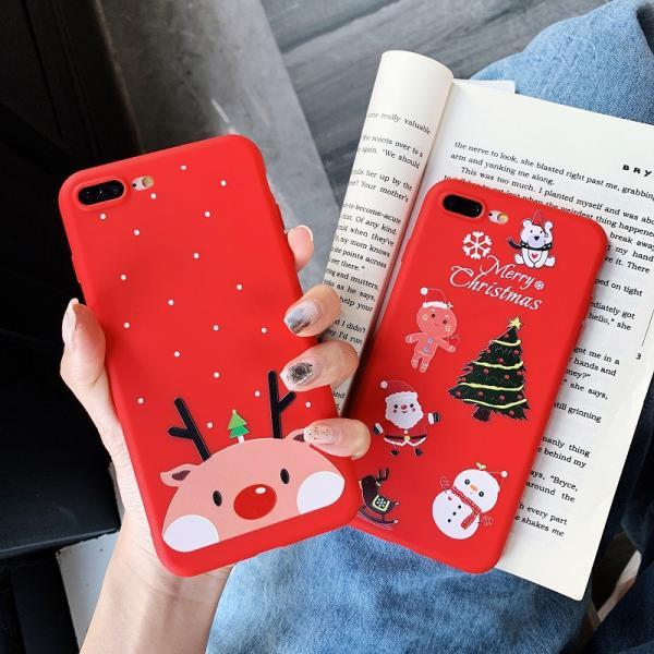 Christmas Snowman Elk Soft TPU Phone Case Cover for iPhone XS MAX XR XS X 8 7 6 6S Plus