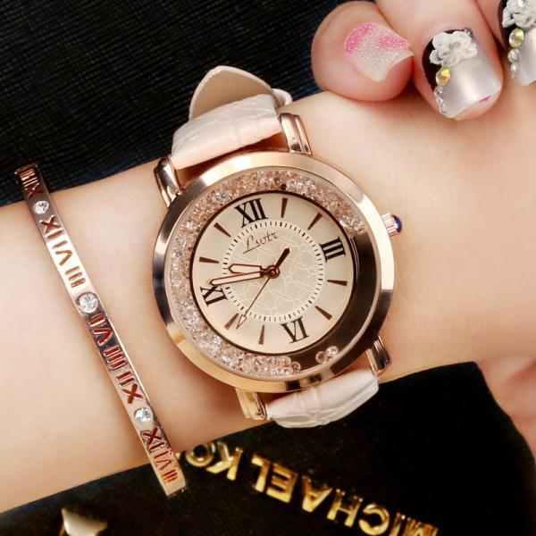 women's fashion leather wristwatch