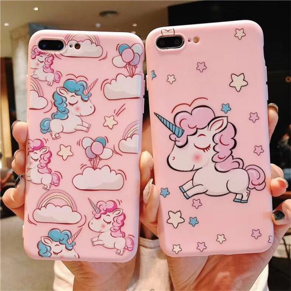 For iPhone 12 Pro Pink Unicorn Case For iPhone 12 Mini 11 Pro Max 8 7 Plus X XS Max XR  Soft TPU Bumper Cover