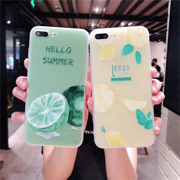 For iPhone 12 Pro Case Summer Lemon Case For iPhone 12 Mini 11 Pro Max 8 7 Plus X XS Max XR Soft TPU Bumper Cover